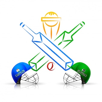 Cricket match emblem