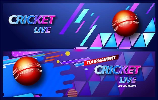 크리켓 선수 크리켓 챔피언십을 위한 배경이 있는 크리에이티브 포스터 또는 배너 디자인