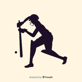 Cricket player silhouette