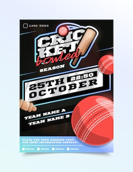 Cricket sport flyer
