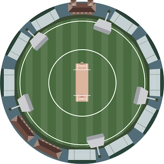 Cricket stadium aerial view