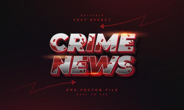Crime news editable text effect
