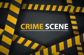 Crime ribbon template