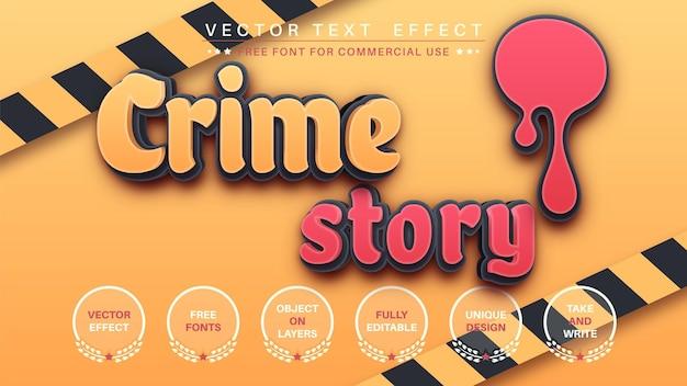 犯罪ストーリー編集テキスト効果編集可能なフォントスタイル