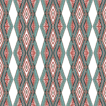Crimson boho tie dye. dip tribal vector seamless pattern