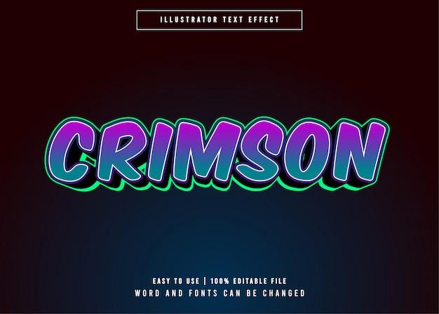 Crimson - текстовый эффект редактируемого игрового стиля