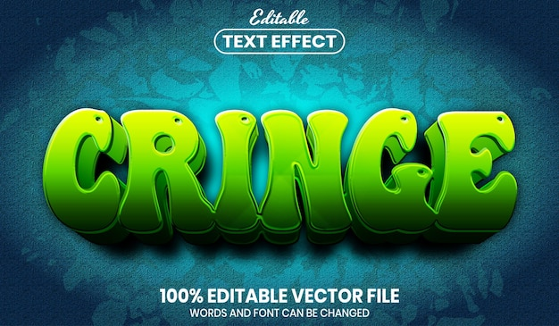 Cringe text, font style editable text effect