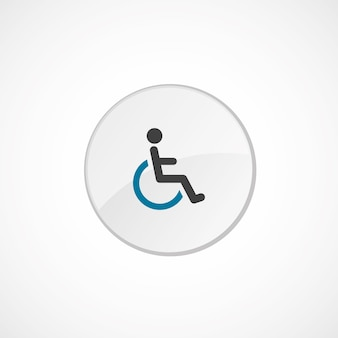 Cripple icon 2 colored, gray and blue, circle badge