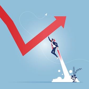 Кризисное управление. лидеры бизнеса поворачивают падающую стрелку вверх