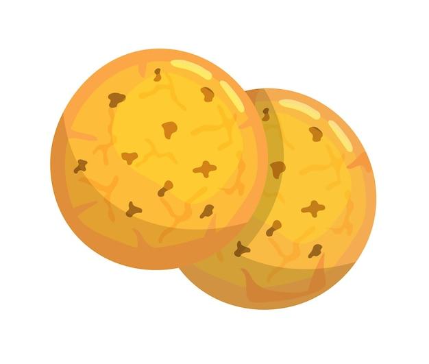 Свежие закуски печенья, изолированные на белом фоне