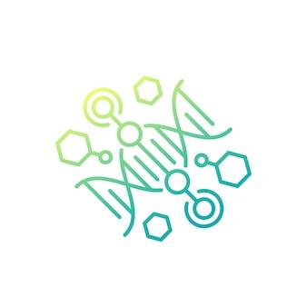Crispr and gene engineering line icon