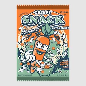 Crispy snack carrot flavoured