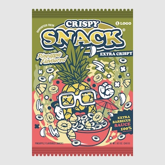Crispy snack pineapple taste