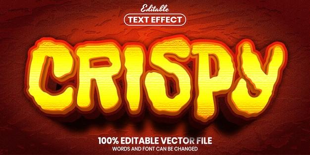 Crispy text, font style editable text effect