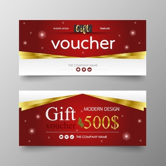 Cristmas gift voucher premium modern and luxury template.