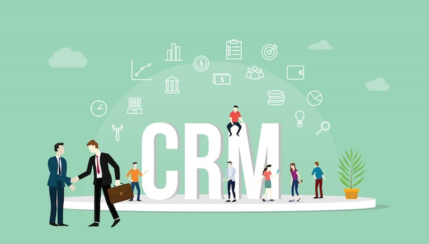 Crm customer relationship management concept