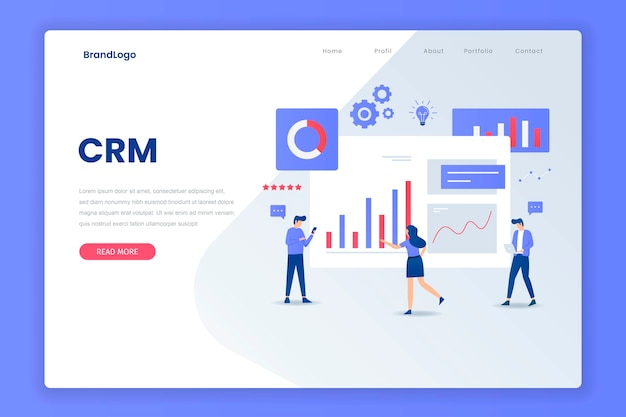 Crm solution landing page