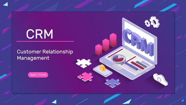 Crm system banner