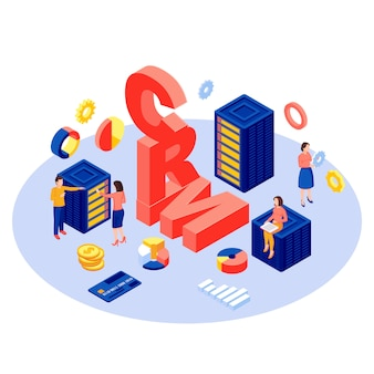 База данных crm, сервер изометрии.