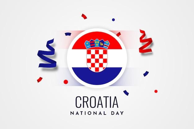 クロアチア建国記念日イラストテンプレートデザイン