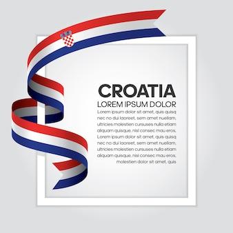 Флаг хорватии ленты, векторные иллюстрации на белом фоне