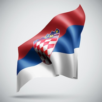 Croatia, vector 3d flag isolated on white background