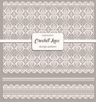 Crochet lace design pattern