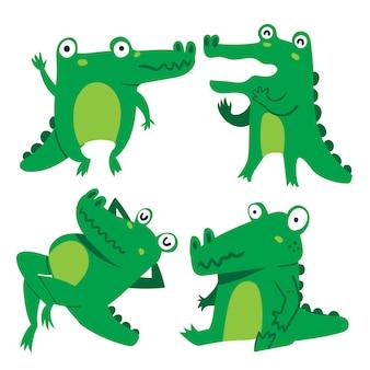 Crocodile character vector design