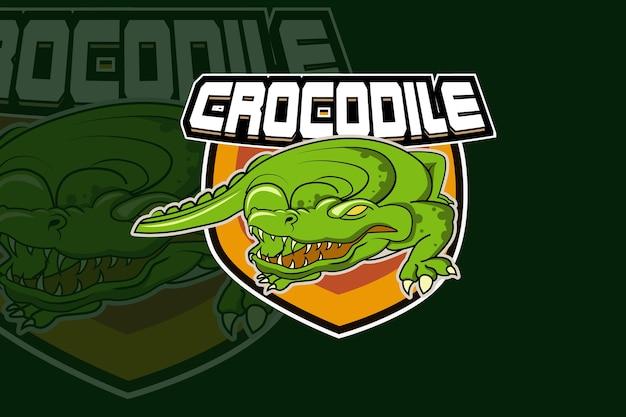 Крокодил и спортивный логотип