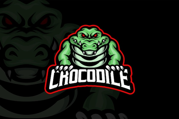 Crocodile - esport logo template