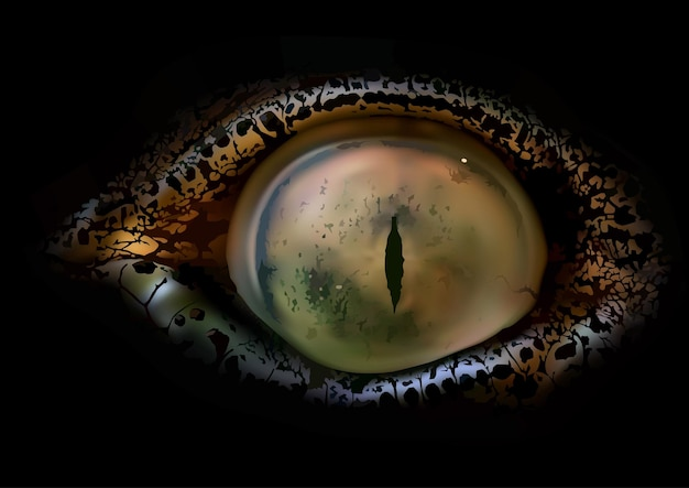 Крокодил глаз как фотореалистичная иллюстрация