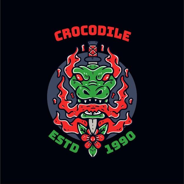 Crocodile illustration pod drawing
