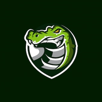 Crocodile logo design illustration