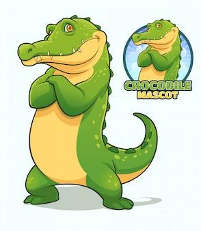 Дизайн талисмана крокодила
