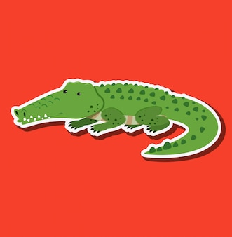 A crocodile sticker character