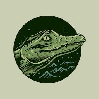 Crocodile vector drawing illustration