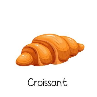 크로 아이콘입니다. 프랑스 빵집 제품 컬러 그림.