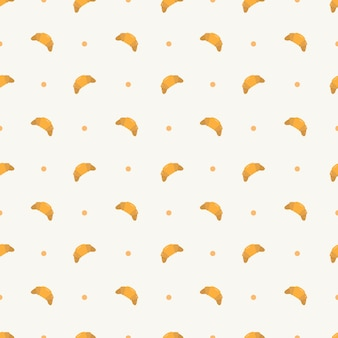 Croissant seamless pattern template for packaging
