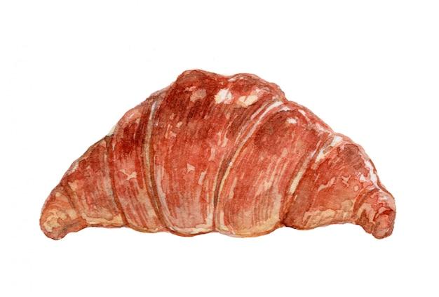 Croissant watercolor illustration