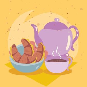 크루아상과 커피 가정식
