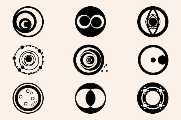 미스터리 서클 02 미스터리 서클 아이콘 세트