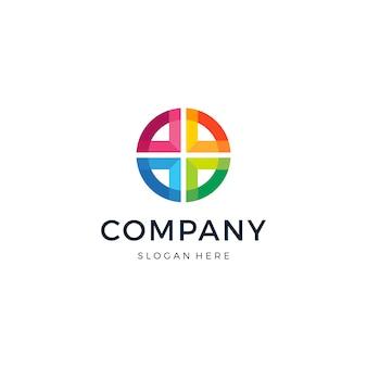 Cross group abstract logo design vector