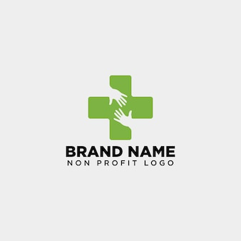 Cross hand medical health care logo
