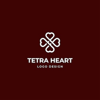 Cross heart logo for medical healthcare, beauty, and modern spa business