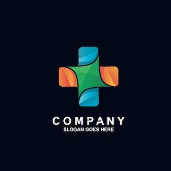 Кросс медицинский дизайн логотипа