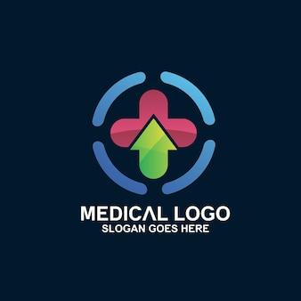 Cross medical with arrow logo