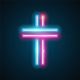 Cross neon design