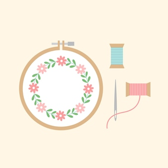 Cross stitch project vector