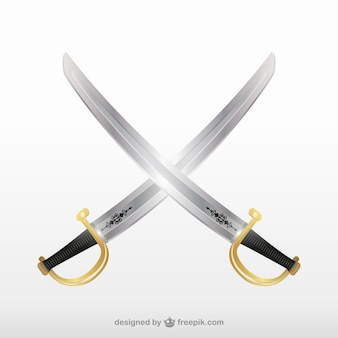 Crossbones пирата мечи