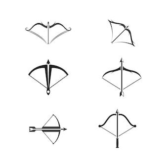 Crossbow vector icon design illustration template